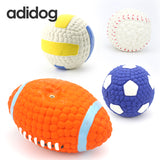 New Pet Dog Toys For Small Large Dogs Chew Toys Sound Solid Resistance To Bite Playable High Quality Ball Puppy Pet Squeak Toys