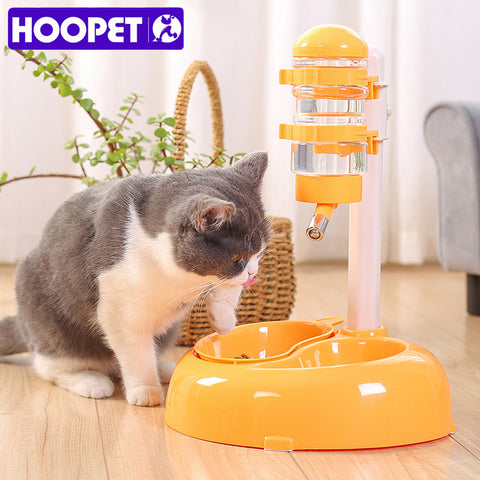 HOOPET Advanced Pet Dogs Drinking Rotatable and Lift Cats Food Bowl Convenience Clean White Red