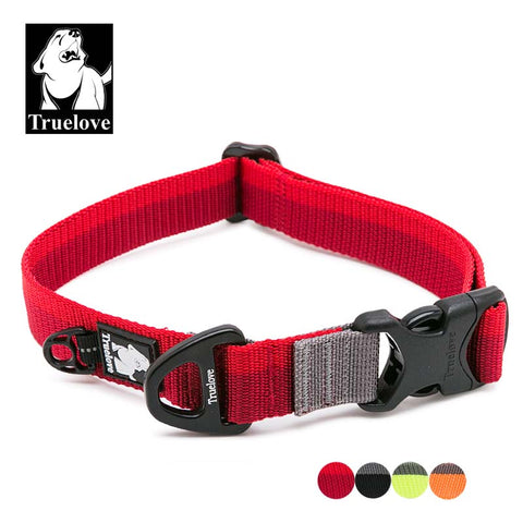 Truelove Nylon Adjustable Dog Collars For Big Small Dogs Soft Pet Collar For Dogs Outdoor Travel Walking Jogging Dog Accessories