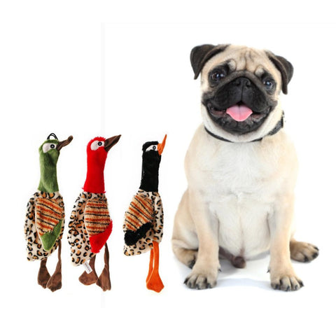 1PCS Pet Dog Toy Funny Chew Squeaky Plush Velvet Sound Toys For Puppy Cleaning Tooth Toy Hang Decoration