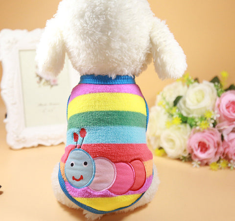 Classics Pet Dog Clothes Winter Warm Striped Cartoon Sweater Puppy Coats For Small Medium Dog Outfit Teddy Chihuahua Jackets