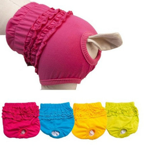Female Pet Dog Puppy Diaper Pants Physiological Sanitary Short Panty Underwear
