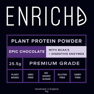vegan protein by enrichd epic chocolate