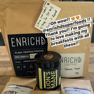 vegan plant based protein powder by enrichd