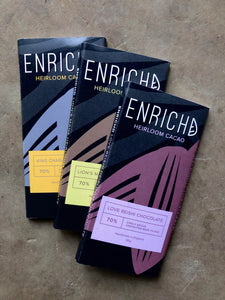 ENRICHD Heirloom Raw Chocolate Bars 60g (Lions Mane, Chaga or Reishi)