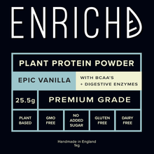 EPIC VANILLA Protein Powder (BCAA's) Plant Based