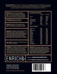 vegan protein powder no cow cacao by enrichd
