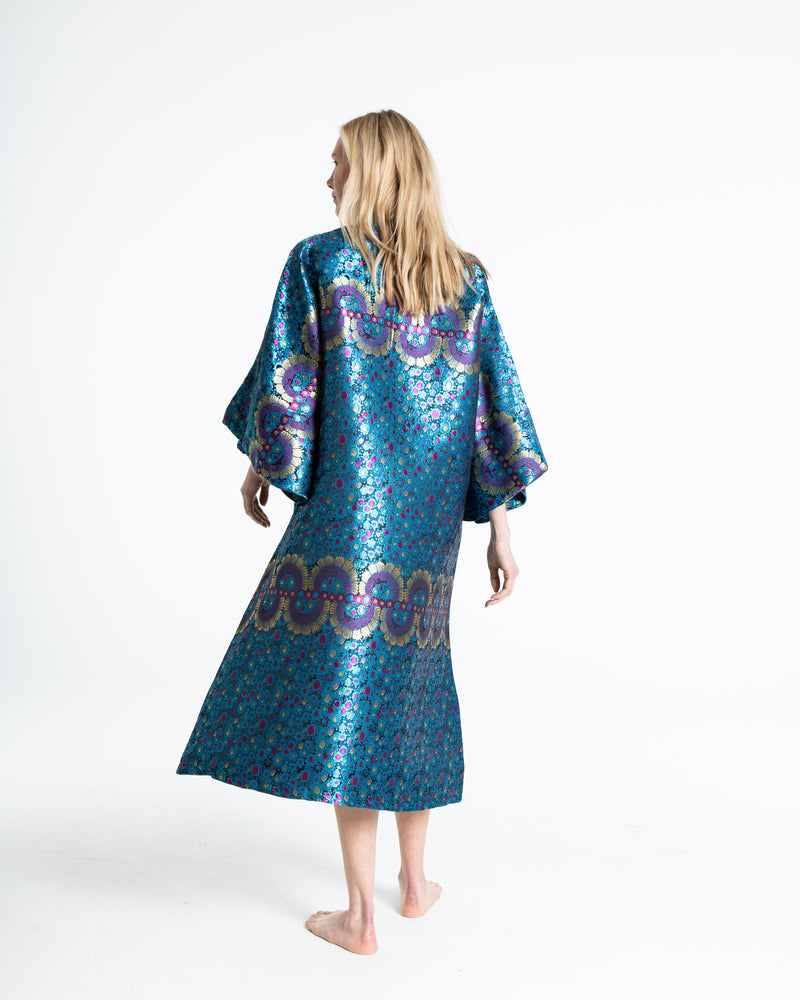 no. 298 blue maxi caftan
