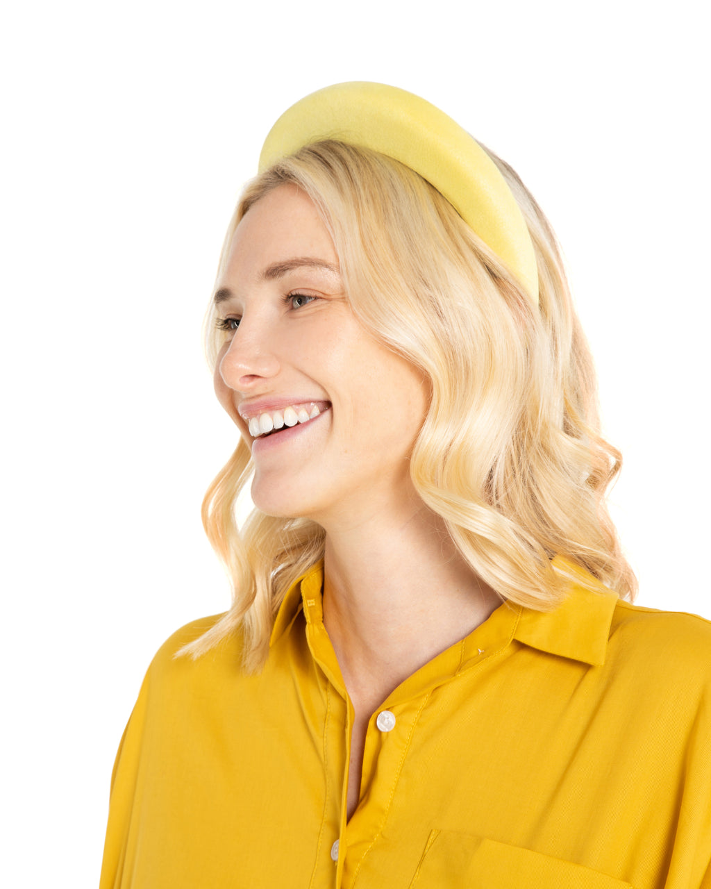 Yellow Suede Headband