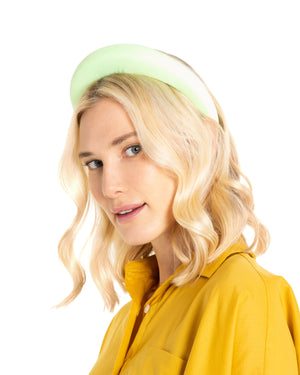 Lime Green Suede Headband