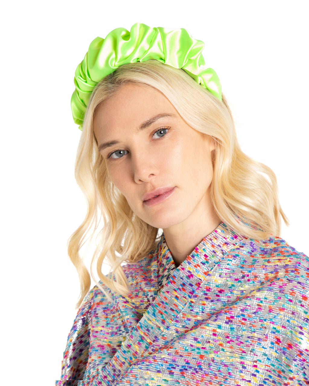 Lime Satin Headband