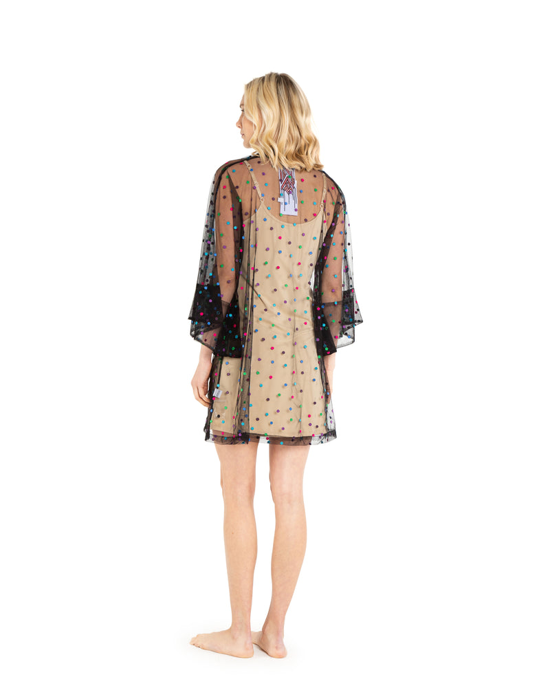 no. 558 sheer dot mini caftan
