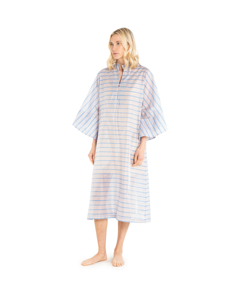 no. 432 blue stripe maxi caftan