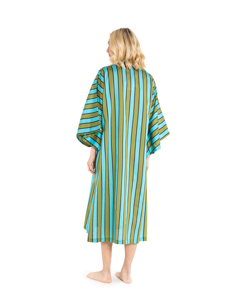 no. 314 green stripe maxi caftan