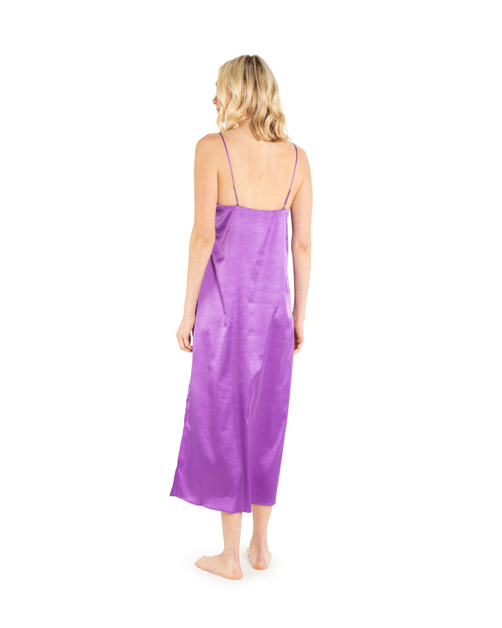 Purple Satin Slip