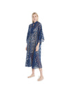 no. 527 navy star maxi caftan