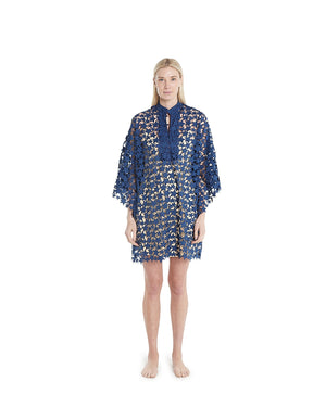 no. 681 navy star mini caftan