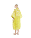 no. 480 yellow & gold feather maxi caftan