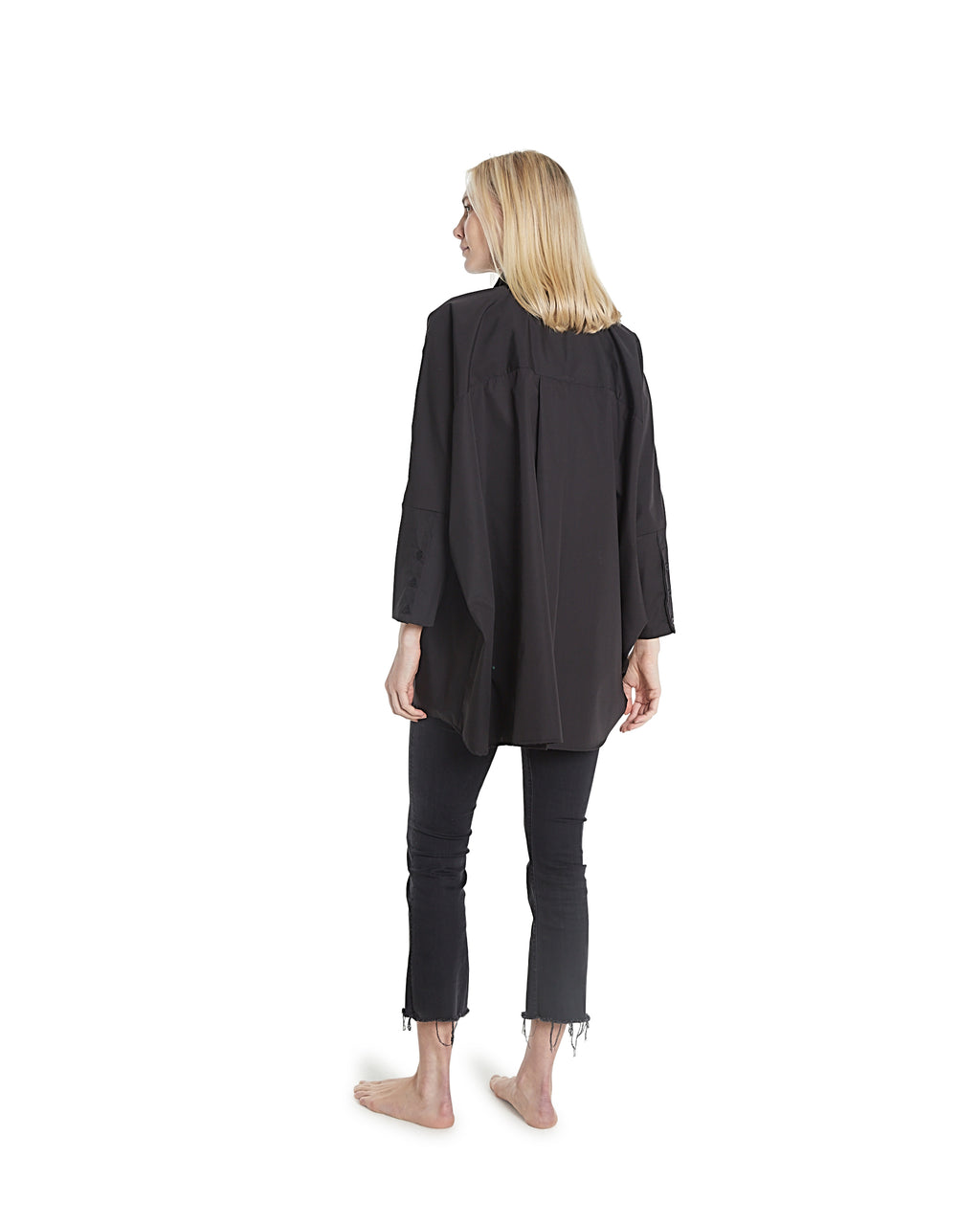 no. 1030 black oversized button shirt