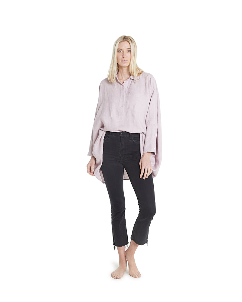 no. 1029 pale lilac oversized button shirt