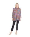 no. 1016 purple floral oversized button down shirt