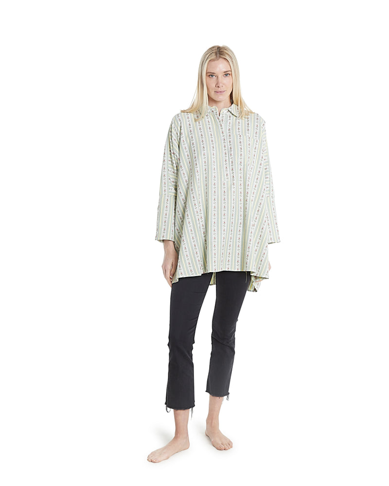no. 1033 floral stripe oversized shirt
