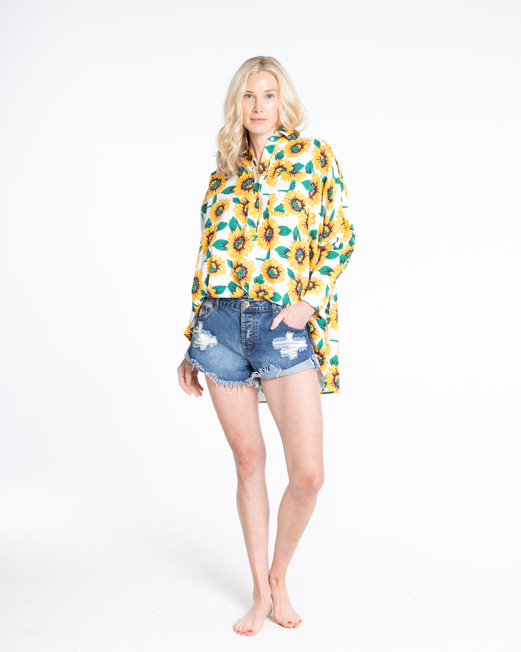 no. 1009 Sunflower Oversized Button Down Shirt