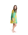 no. 713 green floral silk mini caftan