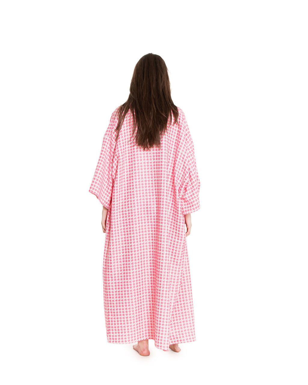 no. 4042 pink houndstooth duster
