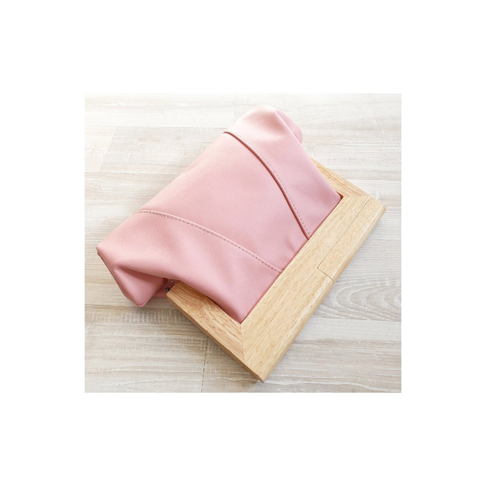 Timber & Leather Sherbet Clutch