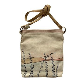 Linen Crossbody Bag - Tall Grasses
