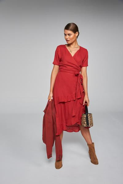 Frilly Wrap Dress