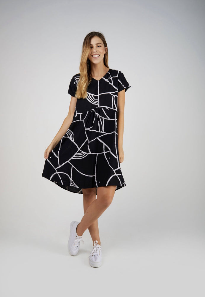 Gather Front Dress