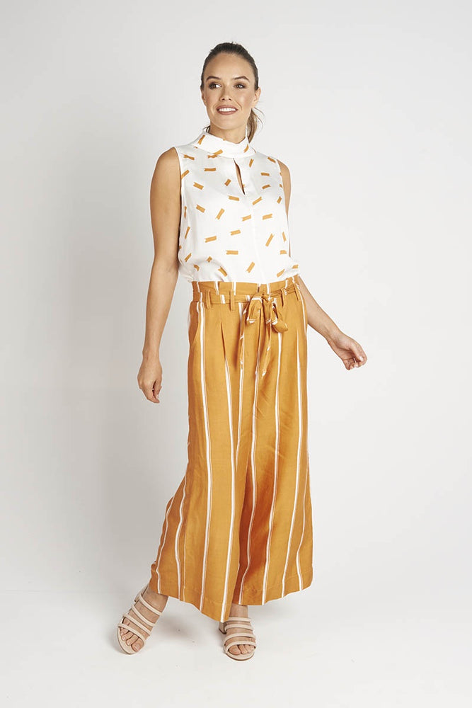Tan/Vanilla Wide Leg Pants