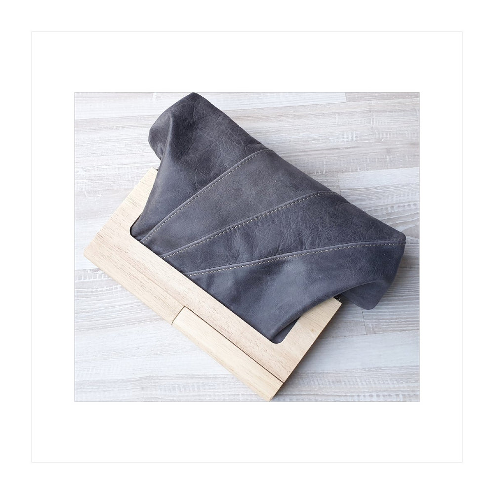 Timber Leather Slate Clutch