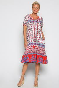 Lucy Dress Orchard Red