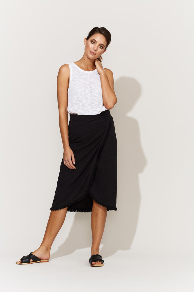 Juarez Wrap Skirt Black