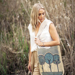 Linen Shoulder Bag -Three Trees