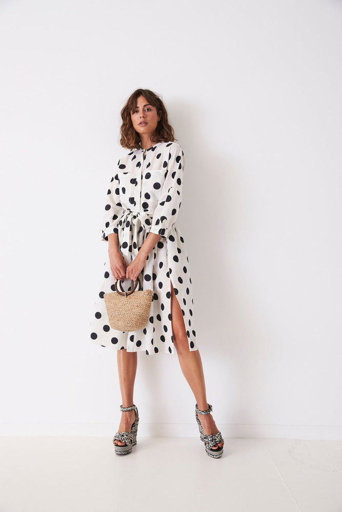 Utility Spotted Midi Dress