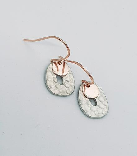 Silver Rose Gold Dangles