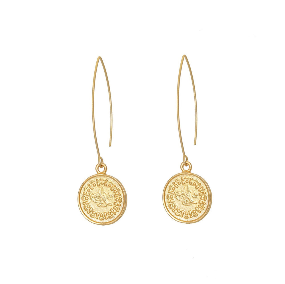 Gold Coin Earring