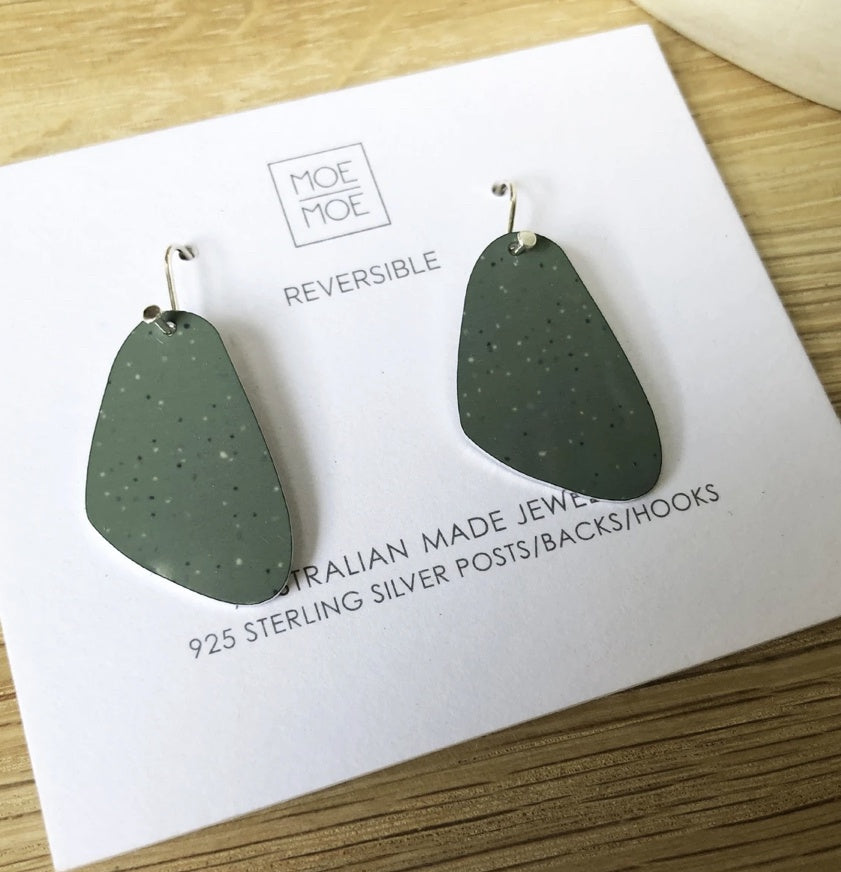 Sage Clay Pippi Drop Earrings