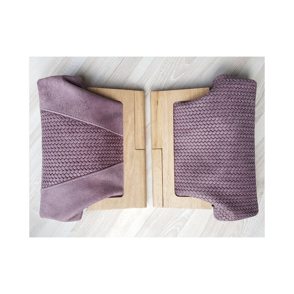Timber & Cableknit  Mauve Clutch