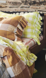 Limoncello Gingham Cushion