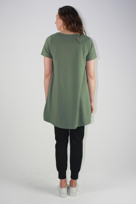 V Neck Drop Back Tee