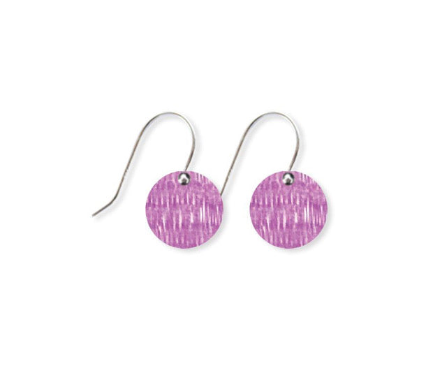 Lavender Candice Perese Small Circle Drop Earrings