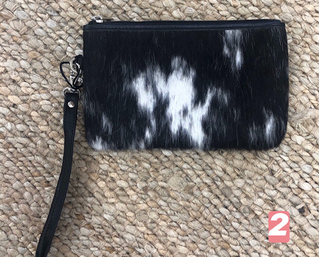 Doreen Hide Clutch