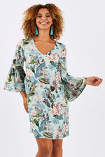 Gatsby Floral Bell Sleeve Dress
