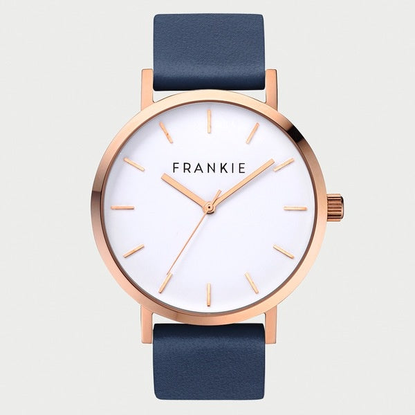 Gold rim/Navy band Frankie