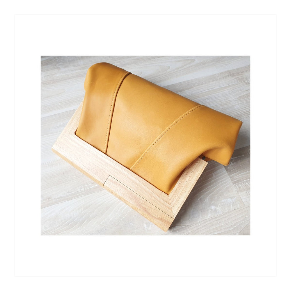Timber & Leather Saffron Clutch